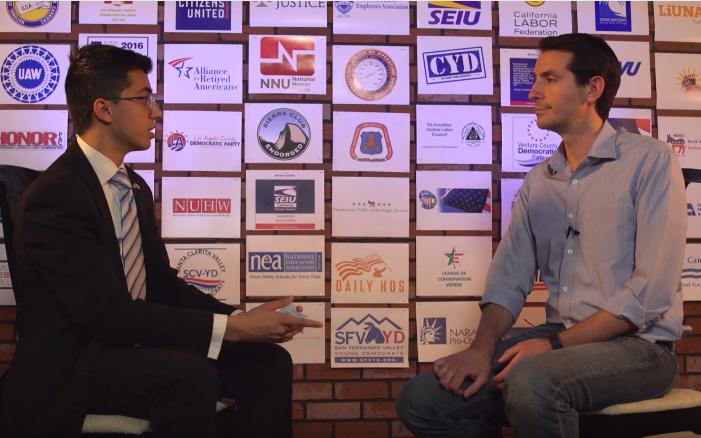 Shawn Haq and Bryan Caforio, mid-interview.