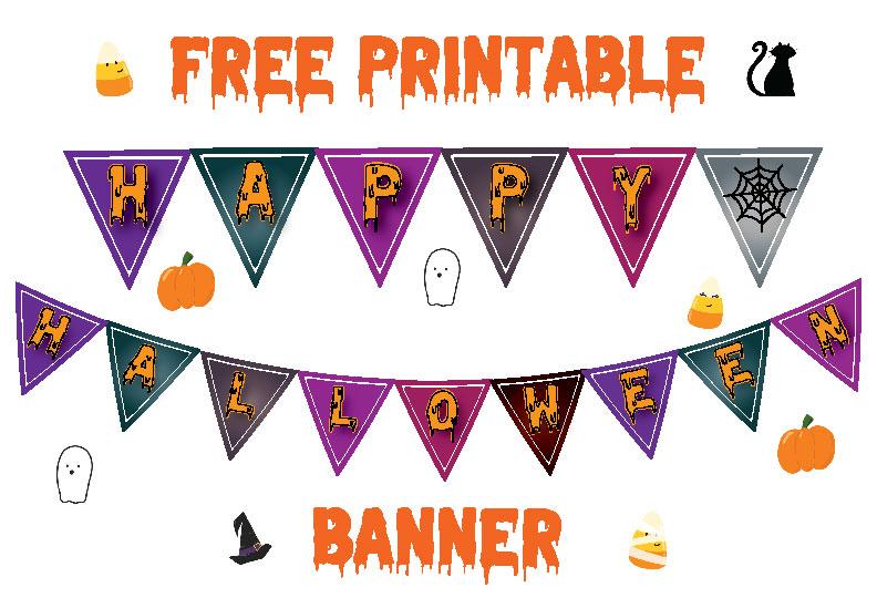 *FREE* Printable Halloween Banner