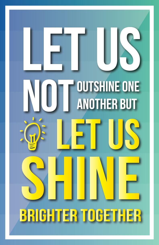 Shine Brighter Together Poster
