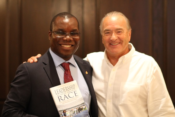 Dr. Malangwasira and Bob Brill