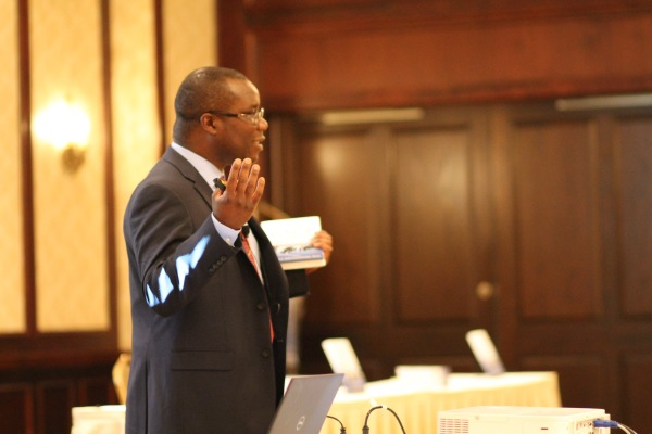 Dr. Malangwasira emphasizing a point
