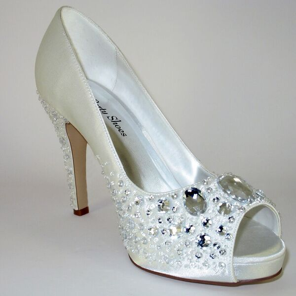 bling, shoes, bridal