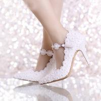 Flowers, heels, lace, bridal.