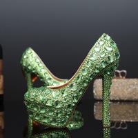 green, heels, bridal.