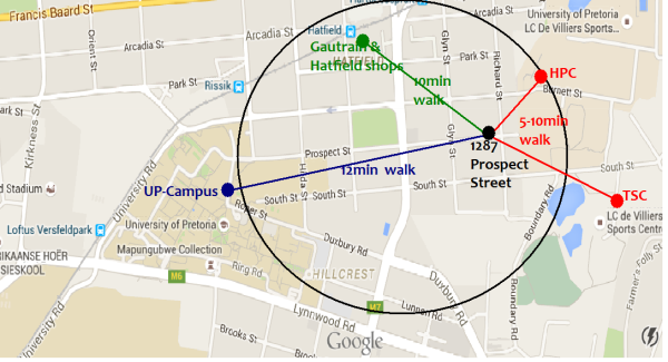 CAMPUS TERRACE IS CENTRALLY SITUATED IN HATFIELD PRETORIA