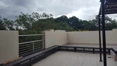 ROOF RECREATIONAL AREA WITH A VIEW OF HATFIELD