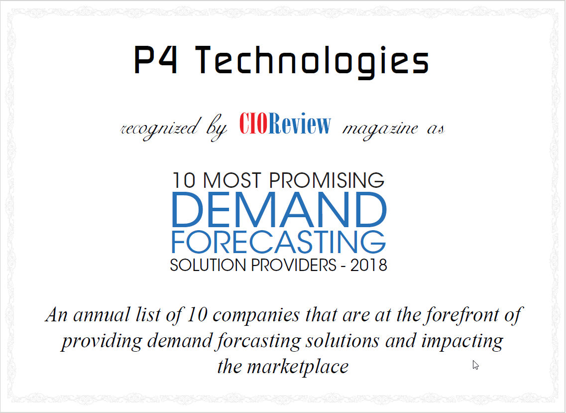CIO Review: Top 10 Most Promising Demand Forecasting Solution Providers