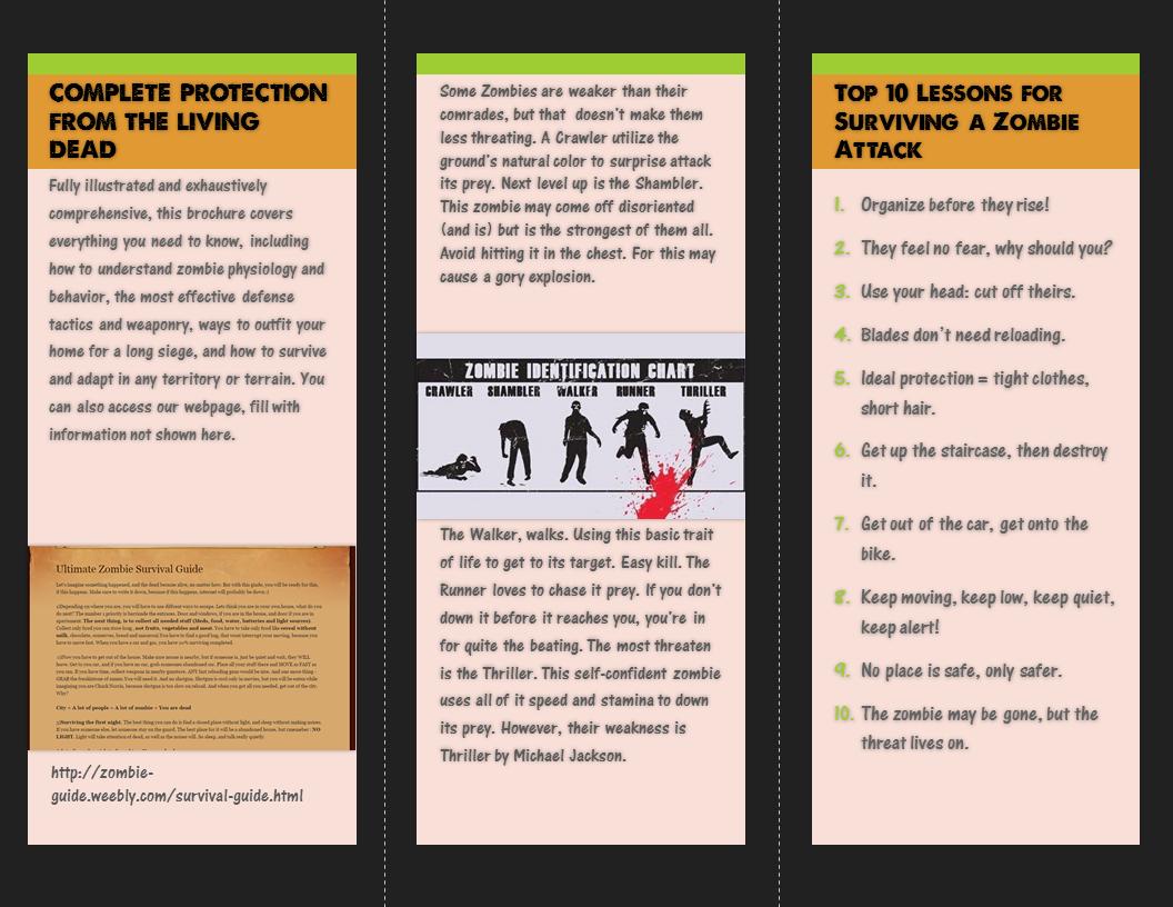 Creative Project: Creative Brochure (Inside)