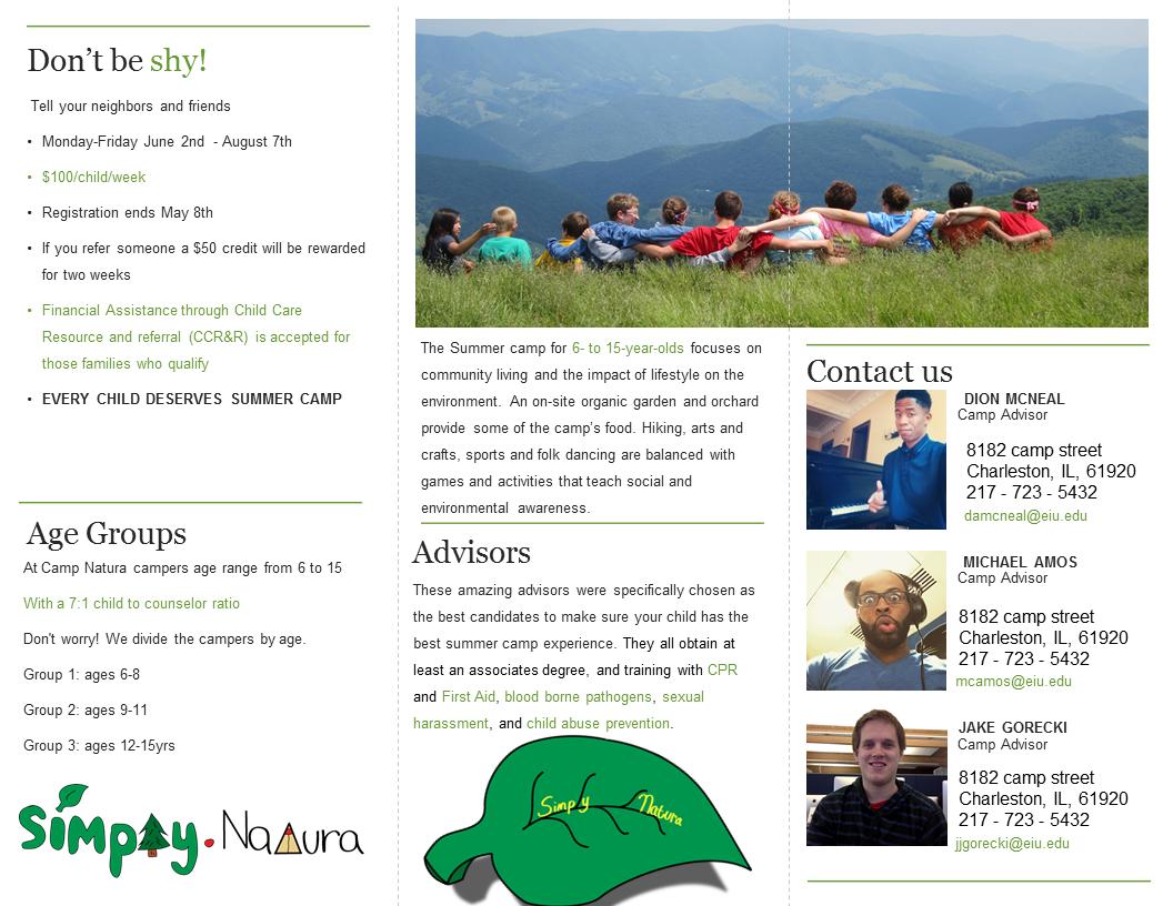 Creative Project: Business Brochure (Inside)
