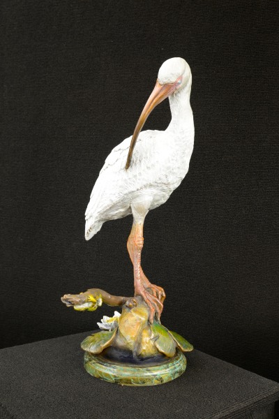 Bronze, White Ibis, Sculpture