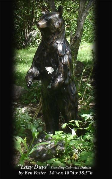 Bronze, Black Bear Sculpture, Outdoor Art