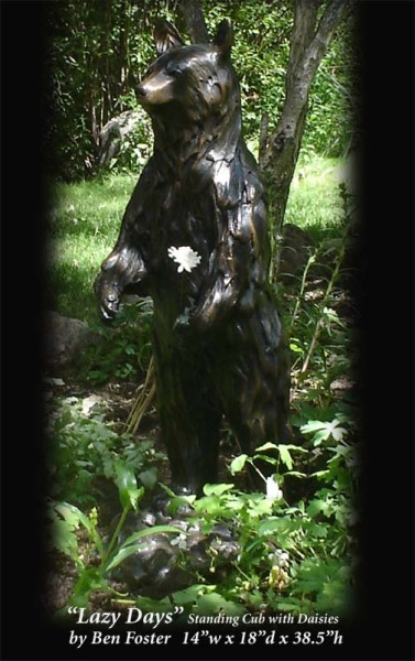 Bronze, Black Bear Sculpture, Outdoor Art