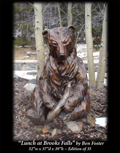 Bronze, Grizzly Bronze Sculpture, Bear Sculpture, Outdoor Art,