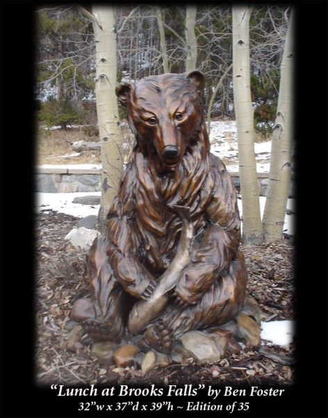 Bronze, Grizzly Bronze Sculpture, Bear Sculpture, Outdoor Art,