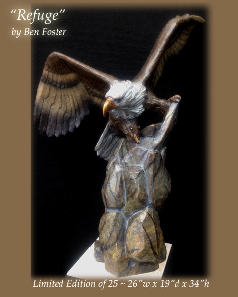 Bronze Bald Eagle Sculpture, Eagle Statue, Ben Foster