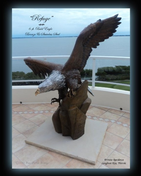 Bronze Eagle, Eagle Sculpture, Stainless Steel Sculpture, Ben Foster
