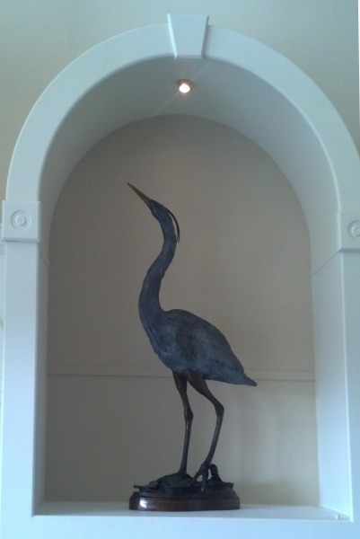 Bronze Heron, Great Blue Heron Statue, Ben Foster