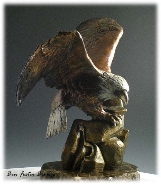Bronze, Bald Eagle Sculpture, Ben Foster