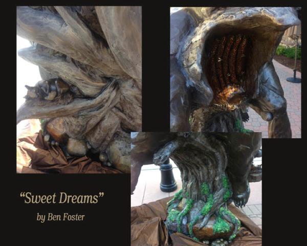 Bronze, Life-Size Black Bear, Sculpture, Outdoor Art, Ben Foster