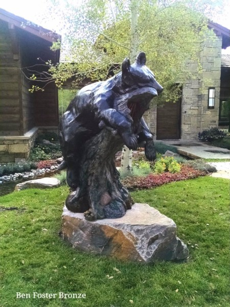 Bronze, Life-Size Black Bear, Sculpture, Outdoor Art, Ben Foster