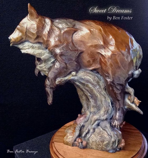 Bronze, Black Bear sculpture, Sculpture, Outdoor Art