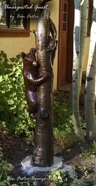 Bronze,Black Bear Cub Sculpture, Bear Sculpture, Outdoor Art, Ben Foster