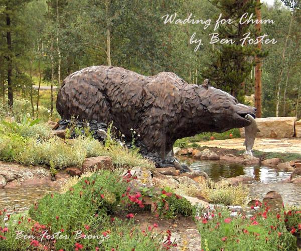 Bronze Grizzly, Bear Sculpture, Outdoor Art, Ben Foster