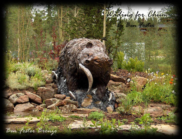 Bronze, Bear Monument, grizzly sculpture, outdoor sculpture