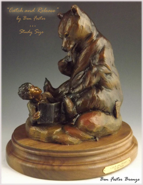 Small Bronze Bear Sculpture, Ben Foster