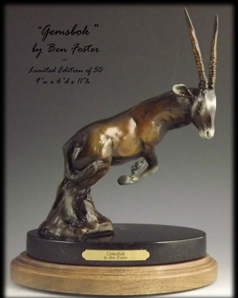 Gemsbok bronze, gemsbok