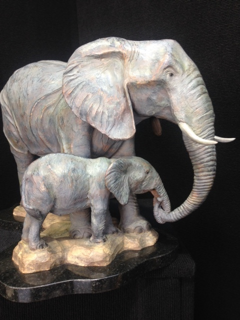 Bronze elephants, elephant sculpture, elephant