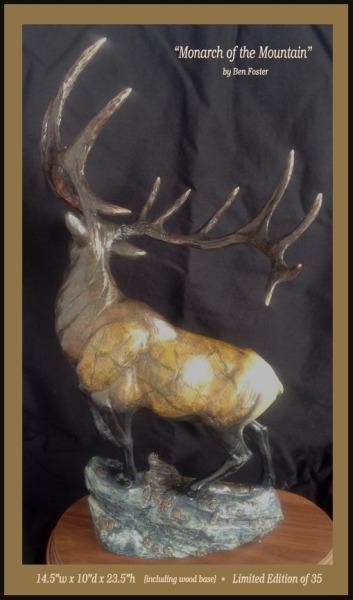 Bronze bull elk, elk bronze