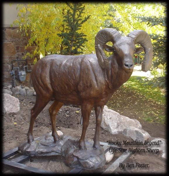 Bronze Big Horn, Outdoor Sculpture