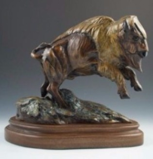 Bronze Bison Sculpture, Bronze Buffalo