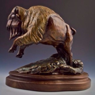 Bronze Bison Sculpture, Bronze Buffalo Sculpture