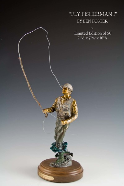 Bronze Fly Fisherman, Bronze Fisherman