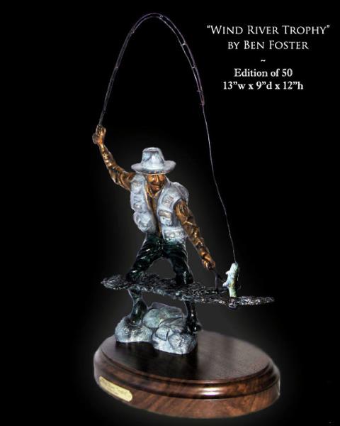 Bronze Fly Fisherman, Fly Fisherman Sculpture