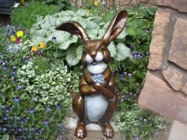Bronze Bunny Sculpture