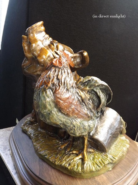 Bronze Pig & Rooster, Whimsical
