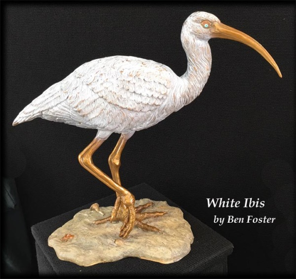 White Ibis - Life-Size - Bronze