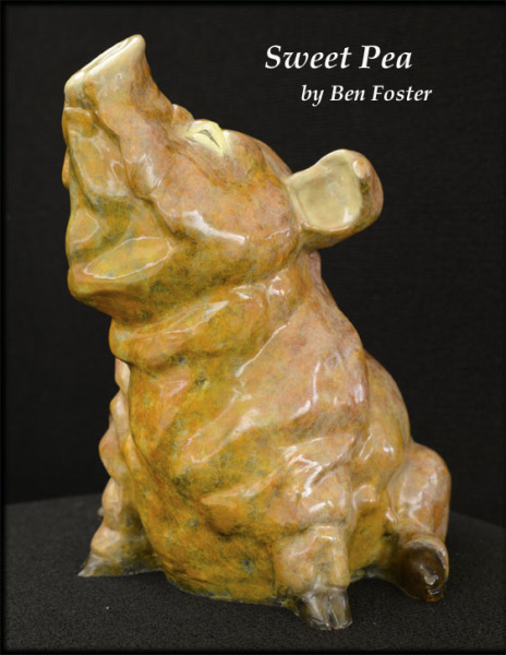 Sweet Pea - Bronze Pig