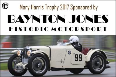 Baynton Jones Historic Motorsport, MHT Title Sponsors 2017