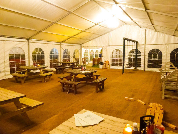 Dining Marquee at The Fighting Cocks