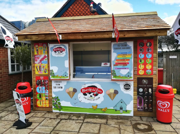 Ice Cream Hut at The Fighting Cocks