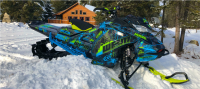 skidoo, graphic, wrap, sled, snow, snowmobile