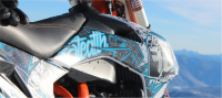 dirtbike, graphic, snow, dirt, wrap, decal, kit