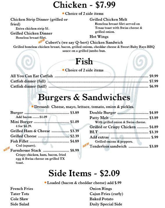 Chicken, Fish, Burgers & Sides ...