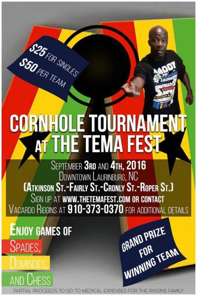 Cornhole Tournament at The Tema Fest!
