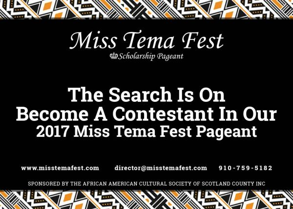 Looking for the next Miss Tema!