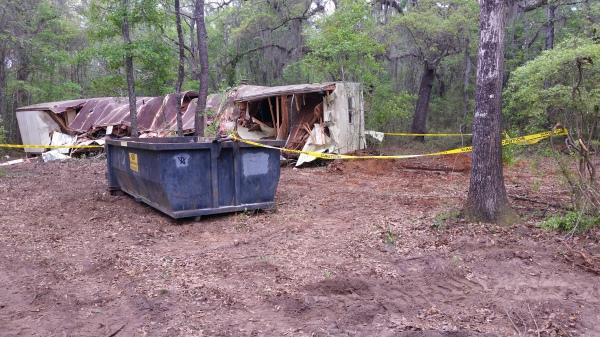 Mobile home demolition